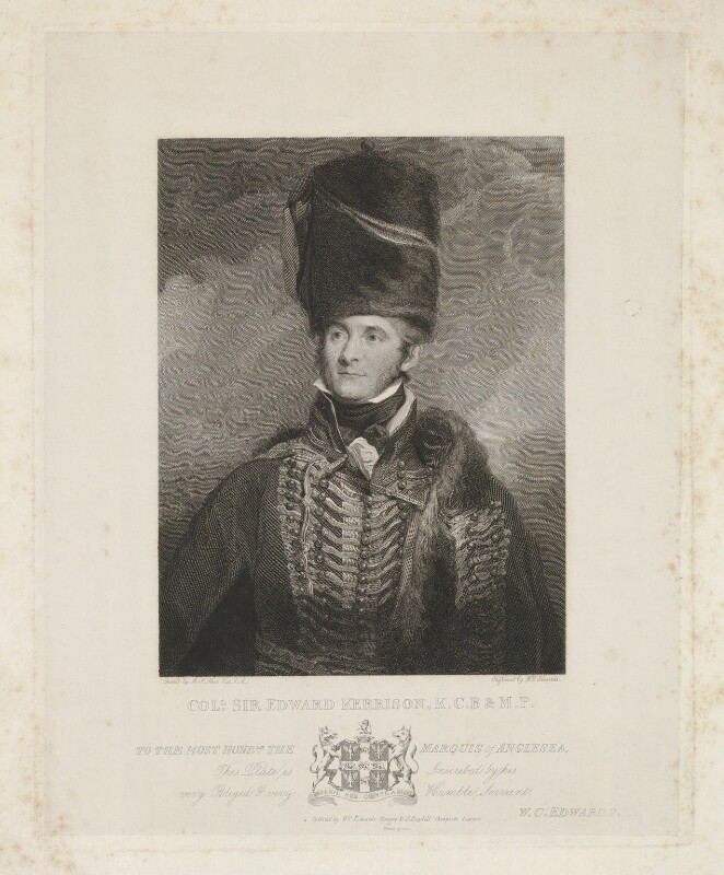 Sir Edward Kerrison, 1st Bt, by and published by William Camden Edwards, published by  Josiah Boydell, after  Sir Martin Archer Shee, published 18 March 1818 - NPG D36852 - © National Portrait Gallery, London