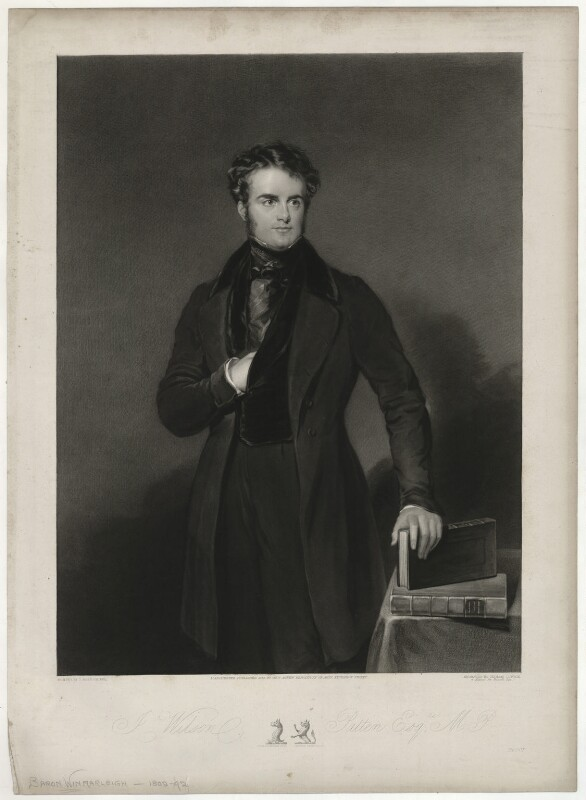 John Wilson-Patten, Baron Winmarleigh, by Thomas Goff Lupton, published by  Thomas Agnew, after  John Bostock, published 1838 - NPG D37059 - © National Portrait Gallery, London