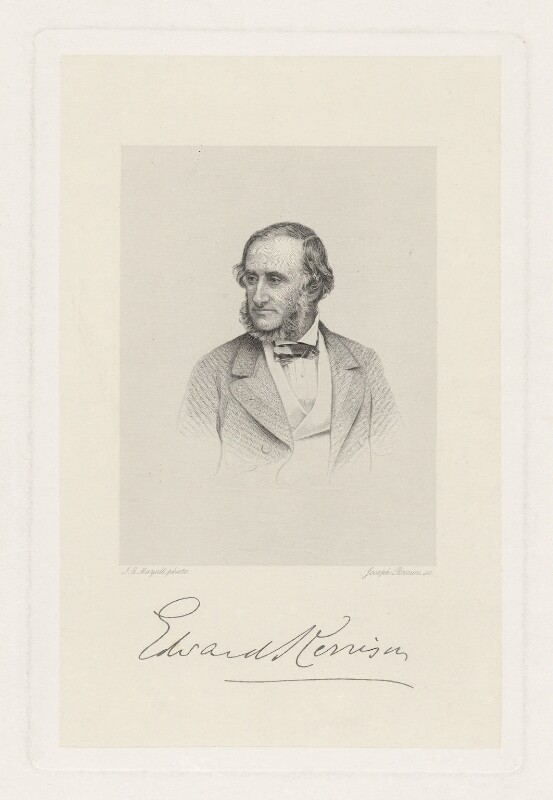 Sir Edward Clarence Kerrison, 2nd Bt, by Joseph Brown, after  John Jabez Edwin Mayall, mid 19th century - NPG D36855 - © National Portrait Gallery, London