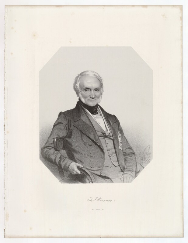 Sir Edward Kerrison, 1st Bt, by Thomas Herbert Maguire, printed by  M & N Hanhart, 1851 - NPG D36854 - © National Portrait Gallery, London