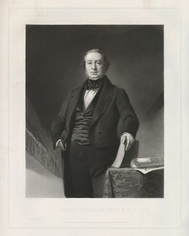 James Kershaw, by Samuel Bellin, printed by  W. Hatton, published by  Thomas Agnew & Sons Ltd, after  Philip Westcott, published 18 June 1852 - NPG D36857 - © National Portrait Gallery, London