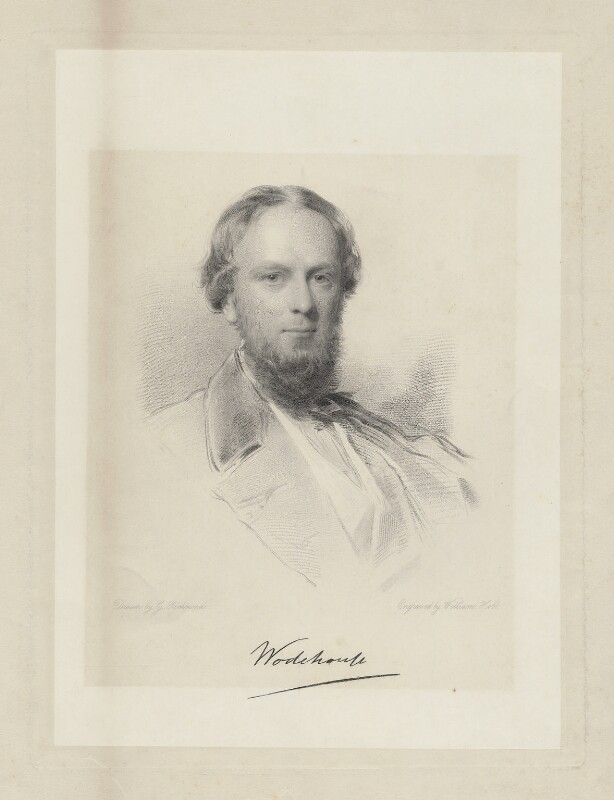 John Wodehouse, 1st Earl of Kimberley, by William Holl Jr, after  George Richmond, (1862) - NPG D36864 - © National Portrait Gallery, London