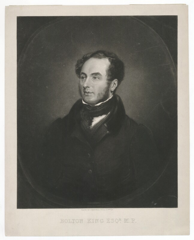 Edward Bolton King, by Samuel Angell, after  William Gill, late 1830s-early 1840s - NPG D36867 - © National Portrait Gallery, London