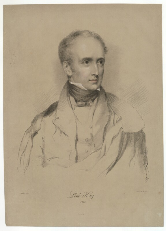 Peter King, 7th Baron King of Ockham, by Maxim Gauci, printed by  Graf & Soret, after  Eden Upton Eddis, 1833 - NPG D36873 - © National Portrait Gallery, London