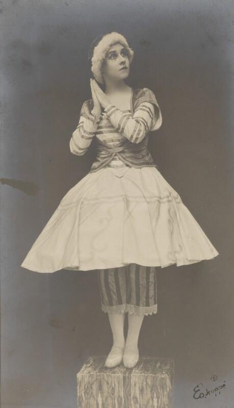 Lydia Lopokova in 'Petrouchka', by Emil Otto ('E.O.') Hoppé, 1919 - NPG P1351 - © 2017 E.O. Hoppé Estate Collection / Curatorial Assistance Inc.