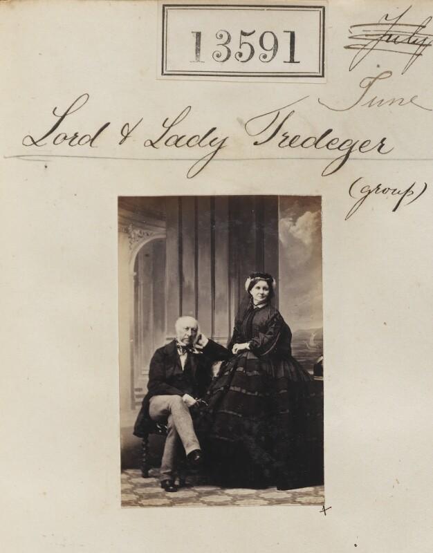 Charles Morgan Robinson Morgan, 1st Baron Tredegar; Rosamund (née Mundy), Lady Tredegar, by Camille Silvy, 22 June 1863 - NPG Ax63224 - © National Portrait Gallery, London