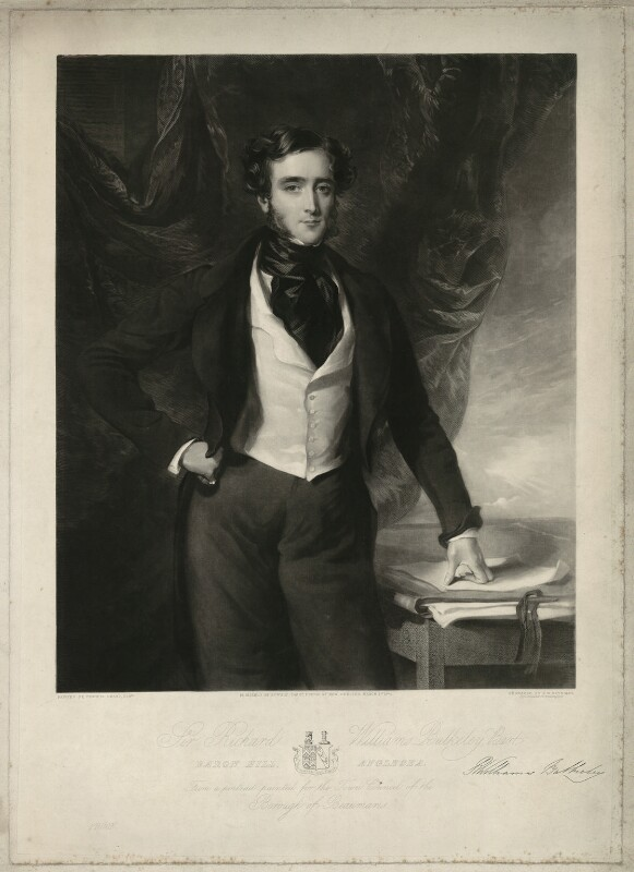 Sir Richard Bulkeley Williams-Bulkeley, 10th Bt, by Samuel William Reynolds Jr, published by  Edward Parry, after  Sir Francis Grant, published 1 March 1841 - NPG D37091 - © National Portrait Gallery, London