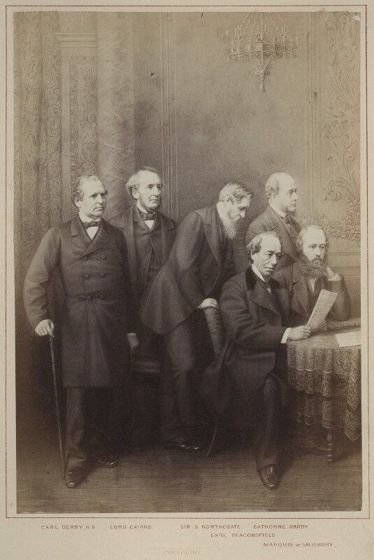 'Politicians - Conservative', published by Hughes & Edmonds, published 1876 - NPG Ax132897 - © National Portrait Gallery, London