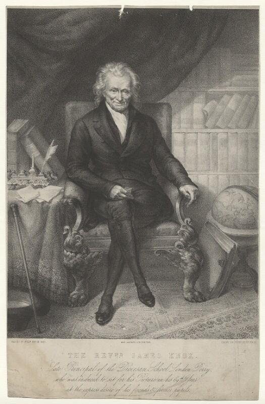 James Knox, by George Foggo, printed by  M & N Hanhart, after  William Foy, (1844) - NPG D37114 - © National Portrait Gallery, London