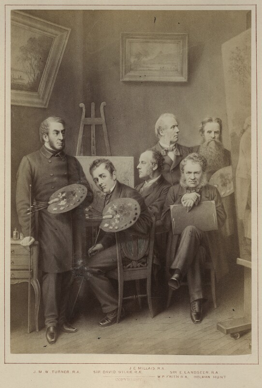 'Artists', published by Hughes & Edmonds, published 1876 - NPG Ax132902 - © National Portrait Gallery, London