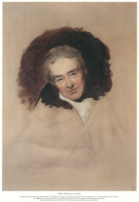 William Wilberforce, published by Kings Town Photocodes Limited, after  George Richmond, after  Sir Thomas Lawrence, circa 1983 (1828) - NPG D37510 - © National Portrait Gallery, London