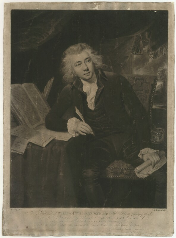 William Wilberforce, by Charles Howard Hodges, published by  John Rising, published by  Thomas Harmar, after  John Rising, published 1 February 1792 - NPG D37512 - © National Portrait Gallery, London