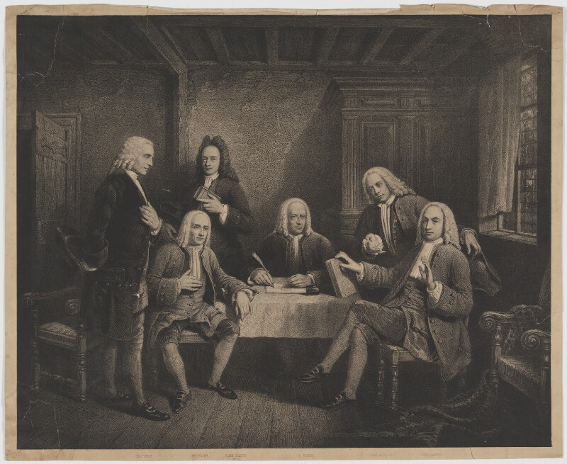 Founders of the Scottish Secession Church, by Unknown artist, late 18th century - NPG D36927 - © National Portrait Gallery, London
