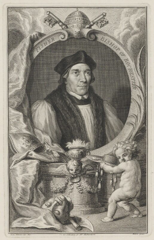 John Fisher, by Jacobus Houbraken, after  Hans Holbein the Younger, circa 1737-1742 - NPG D36929 - © National Portrait Gallery, London