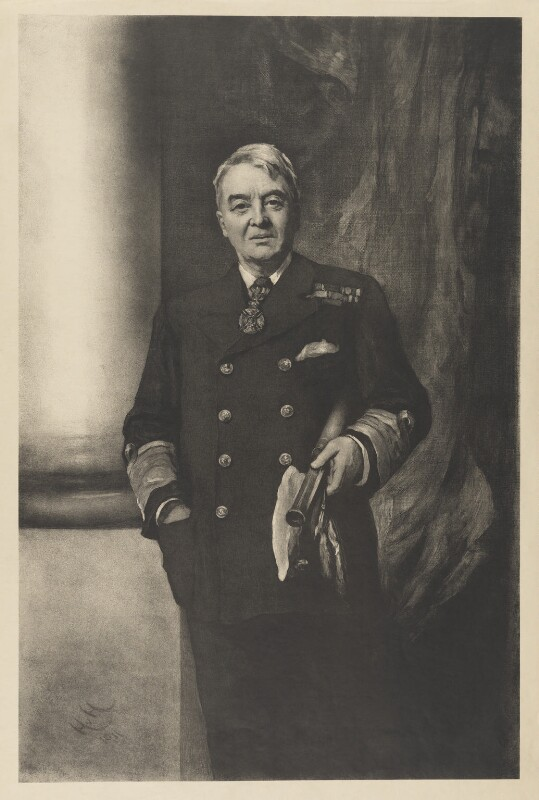 John Arbuthnot Fisher, 1st Baron Fisher, after Sir Hubert von Herkomer, 1911 or after - NPG D36934 - © National Portrait Gallery, London
