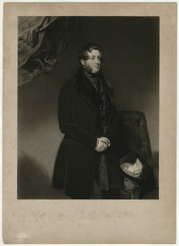 Hon. Richard Bootle-Wilbraham, by Henry Cousins, published by  Thomas Agnew, after  John Bostock, published 1 October 1839 - NPG D37516 - © National Portrait Gallery, London