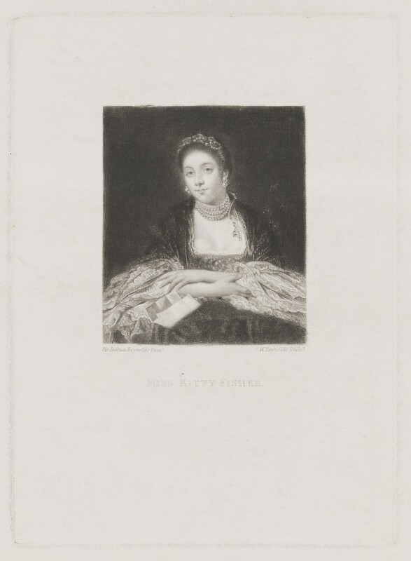 Kitty Fisher, by Samuel William Reynolds, after  Sir Joshua Reynolds, published 1834 - NPG D36936 - © National Portrait Gallery, London