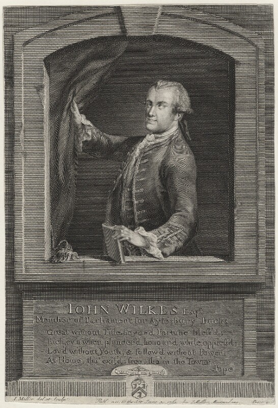 John Wilkes, by Johann Sebastian Müller, published by  Carington Bowles, published 1763 - NPG D37521 - © National Portrait Gallery, London