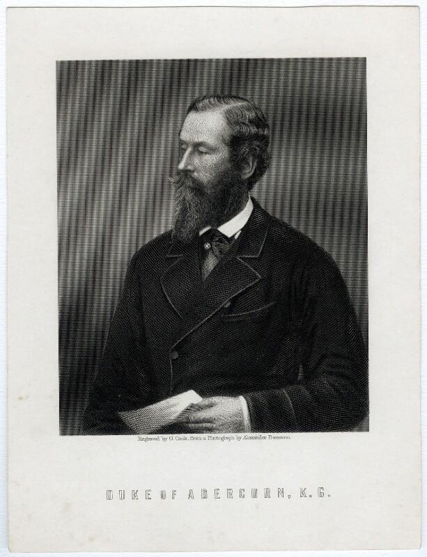 James Hamilton, 1st Duke of Abercorn, by G. Cook, after  Alexander Bassano, mid 19th century - NPG D37146 - © National Portrait Gallery, London