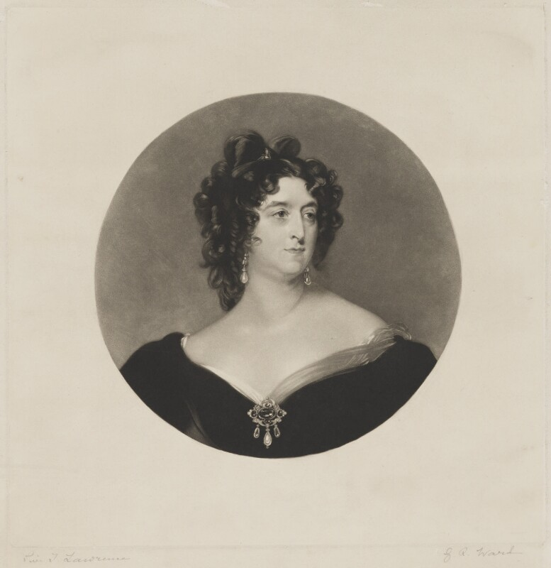 Mary Frances Fitzgerald, by George Raphael Ward, after  Sir Thomas Lawrence, (1825) - NPG D36943 - © National Portrait Gallery, London