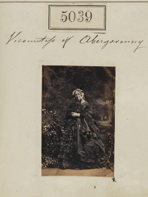Caroline (née Leeke), Countess of Abergavenny, by Camille Silvy, 19 July 1861 - NPG Ax55044 - © National Portrait Gallery, London