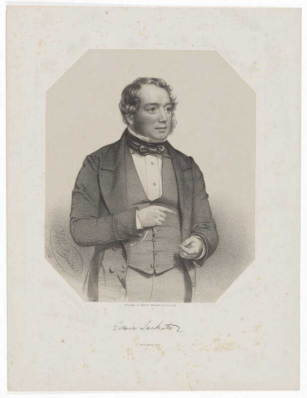 Edwin Lankester, by Thomas Herbert Maguire, printed by  M & N Hanhart, published by  George Ransome, published 1852 (1852) - NPG D37167 - © National Portrait Gallery, London