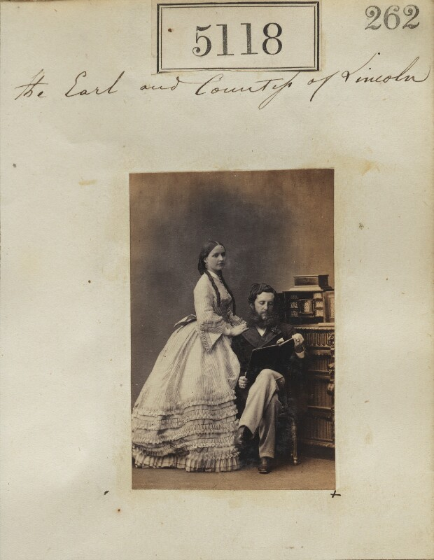 The 6th Duke and Duchess of Newcastle, by Camille Silvy, 22 July 1861 - NPG Ax55121 - © National Portrait Gallery, London