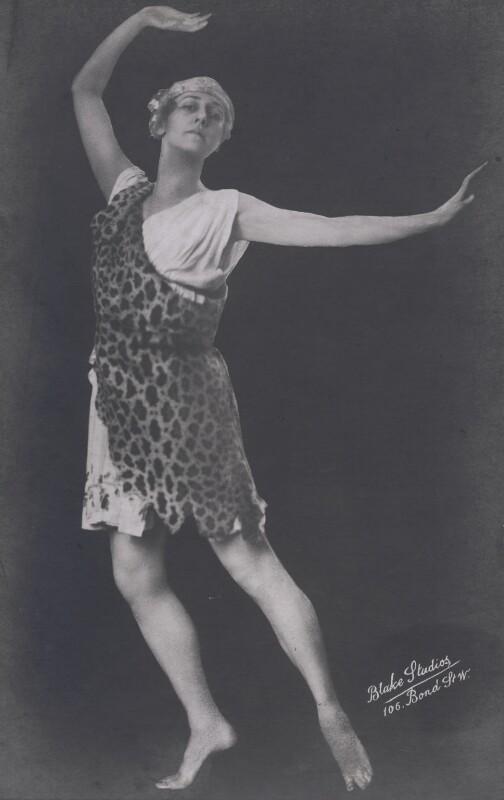 Tamara Karsavina, by Blake Studios, early 1920s - NPG x133149 - © National Portrait Gallery, London