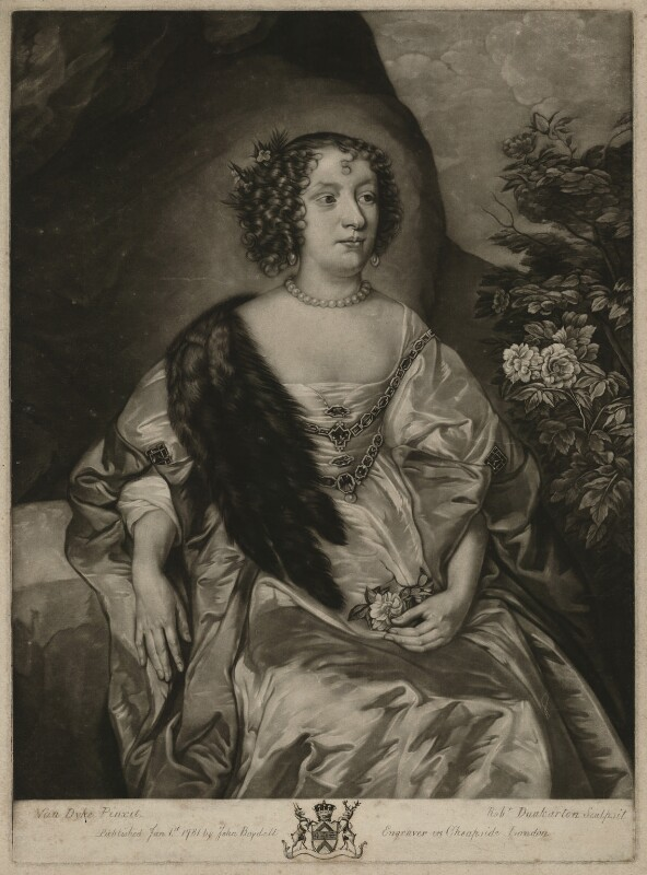 Philadelphia, Lady Wharton, by Robert Dunkarton, published by  John Boydell, after  Sir Anthony van Dyck, published 1 January 1781 - NPG D37542 - © National Portrait Gallery, London