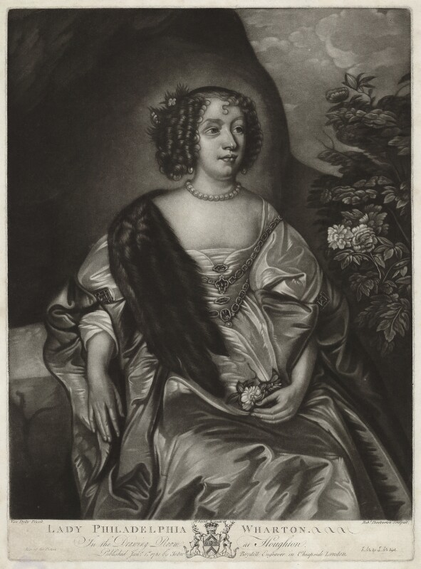 Philadelphia, Lady Wharton, by Robert Dunkarton, published by  John Boydell, after  Sir Anthony van Dyck, published 1 January 1781 - NPG D37546 - © National Portrait Gallery, London