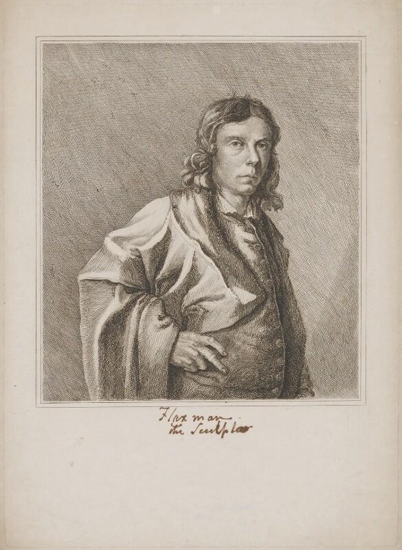 John Flaxman, by M. de Clauson, after  John Flaxman, published 1833 (1779) - NPG D36965 - © National Portrait Gallery, London