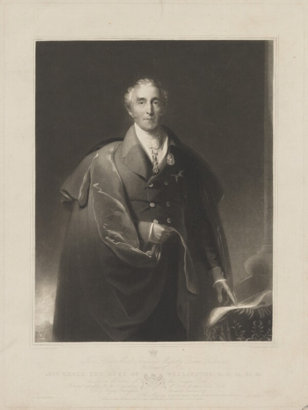 Arthur Wellesley, 1st Duke of Wellington, by James Scott, printed by  Brooker & Harrison, published by  Thomas Boys, after  John Lilley, published 15 November 1837 - NPG D37586 - © National Portrait Gallery, London