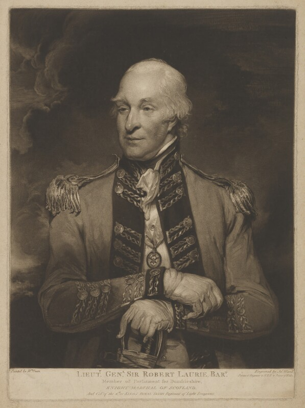 Sir Robert Laurie, 5th Bt, by James Ward, after  William Owen, 1794 or after - NPG D37194 - © National Portrait Gallery, London