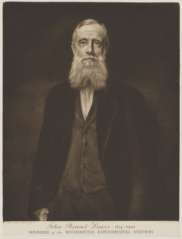 Sir John Bennet Lawes, 1st Bt, by Julia Emily Clutterbuck (Mrs Alsop), after  Sir Hubert von Herkomer, published early 20th century - NPG D37203 - © National Portrait Gallery, London