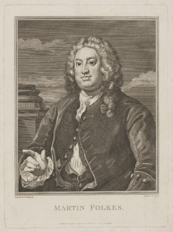 Martin Folkes, by Thomas Cook, published by  George and John Robinson, after  William Hogarth, published 1 August 1802 - NPG D36992 - © National Portrait Gallery, London