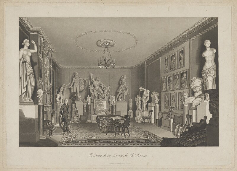 Sir Thomas Lawrence ('The Private Sitting Room of Sir Thos. Lawrence'), published by Mr Keightley, published December 1830 - NPG D37219 - © National Portrait Gallery, London