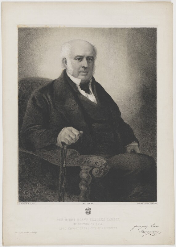 Charles Lawson, by and published by Frederick Schenck, after  Otto Theodor Leyde, after  James Archer, 1862 or after - NPG D37220 - © National Portrait Gallery, London