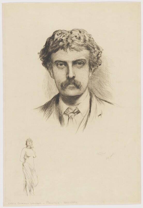 Cecil Gordon Lawson, by Sir Hubert von Herkomer, 1882 or after (1877) - NPG D37223 - © National Portrait Gallery, London