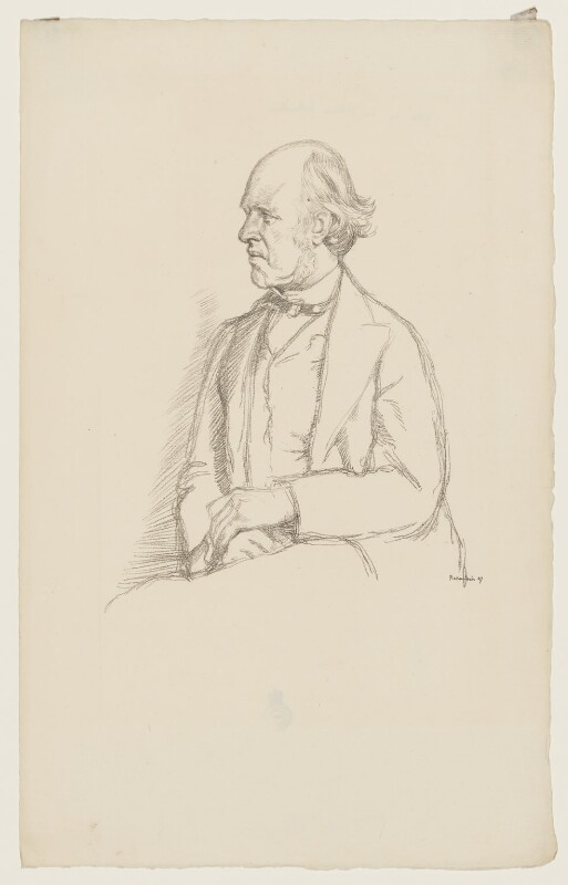 (William) Edward Hartpole Lecky, by Sir William Rothenstein, 1897 - NPG D37232 - © National Portrait Gallery, London