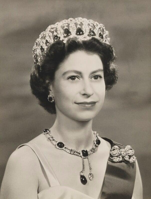 Queen Elizabeth II, by Baron (Sterling Henry Nahum), 1956 - NPG x132904 - © Baron/Camera Press