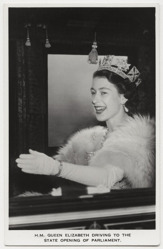Queen Elizabeth II, possibly by Charles James Dawson, for  Central Press, published by  James Valentine & Sons Ltd, 4 November 1952 - NPG x132905 - © Getty Images
