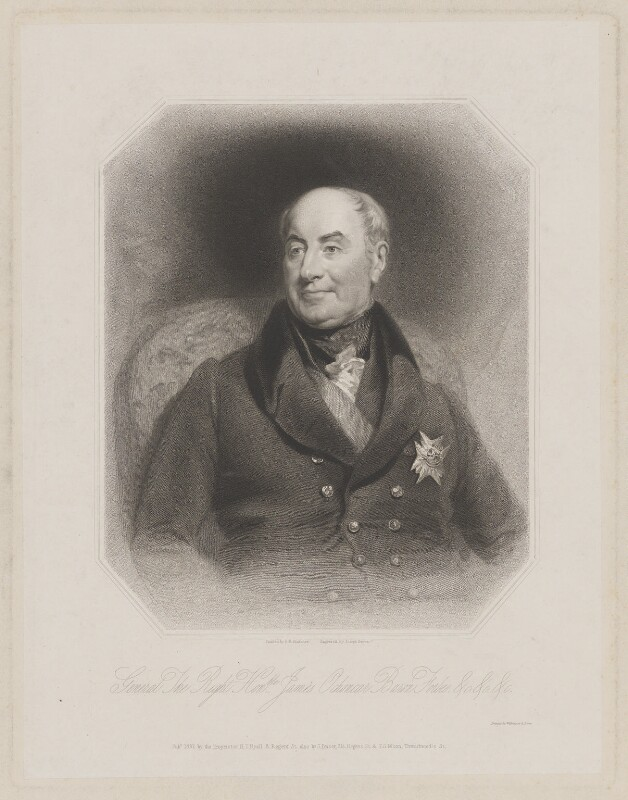 James Ochoncar Forbes, 18th Lord Forbes, by Joseph Brown, printed by  Wilkinson & Dawe, published by  Henry Thomas Ryall, published by  James Fraser, published by  Sir Francis Graham Moon, 1st Bt, after  Benjamin Rawlinson Faulkner, published 1837 - NPG D37717 - © National Portrait Gallery, London