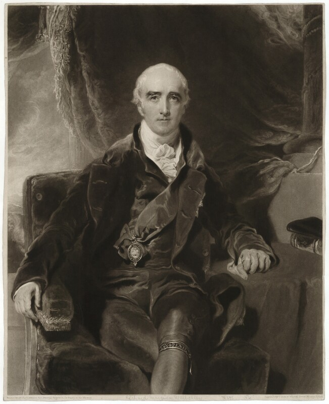 Richard Colley Wellesley, Marquess Wellesley, by Charles Turner, after  Sir Thomas Lawrence, published 1815 - NPG D37636 - © National Portrait Gallery, London