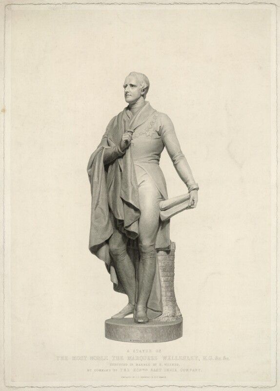 Richard Colley Wellesley, Marquess Wellesley, by John Taylor ('J.T.') Wedgwood, and by  F.F. Walker, printed by  S.H. Hawkins, after  Henry Weekes, (1845) - NPG D37639 - © National Portrait Gallery, London
