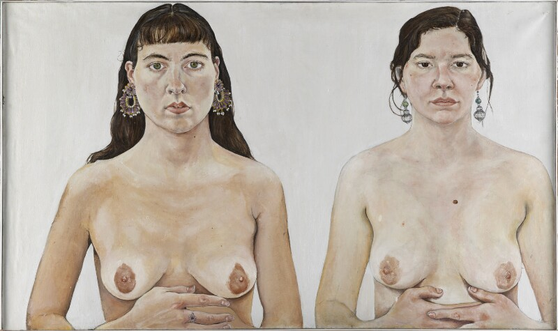 Ishbel Myerscough; Chantal Joffe ('Two Girls'), by Ishbel Myerscough, 1991 - NPG 6959 - © National Portrait Gallery, London