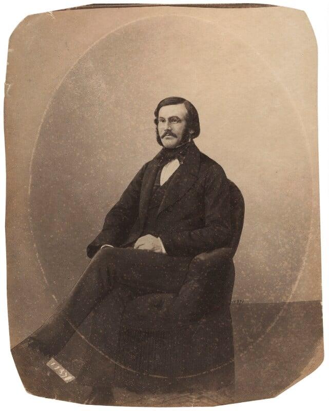Sir Richard Strachey, by Unknown photographer, 1840s-1850s - NPG x33996 - © National Portrait Gallery, London