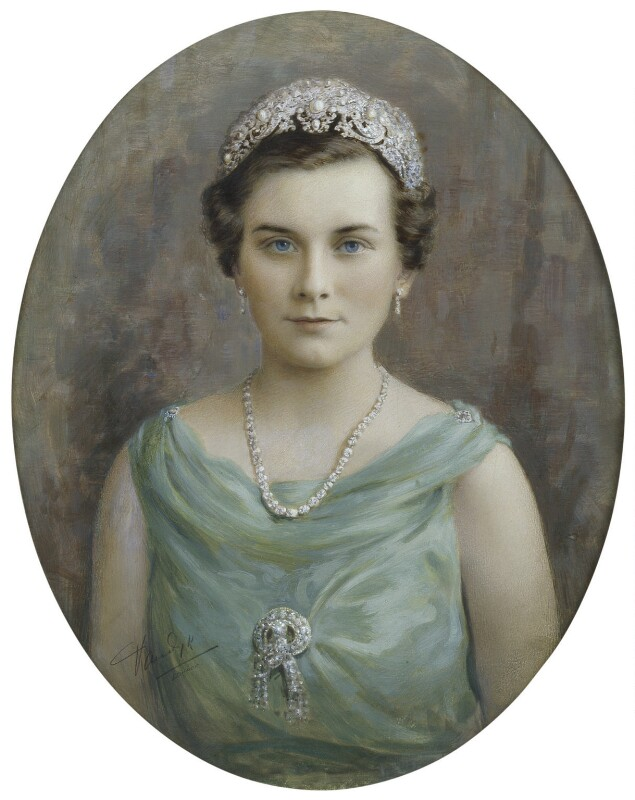 Princess Alice, Duchess of Gloucester, by Vandyk, 1930s - NPG x74766 - © National Portrait Gallery, London