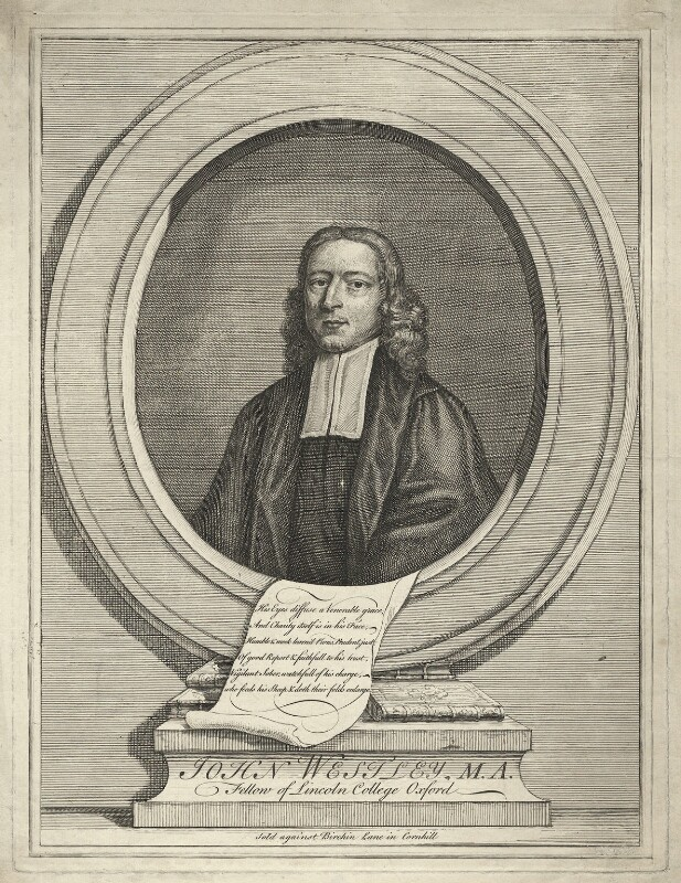 John Wesley, by Unknown artist, after 1727 - NPG D37682 - © National Portrait Gallery, London