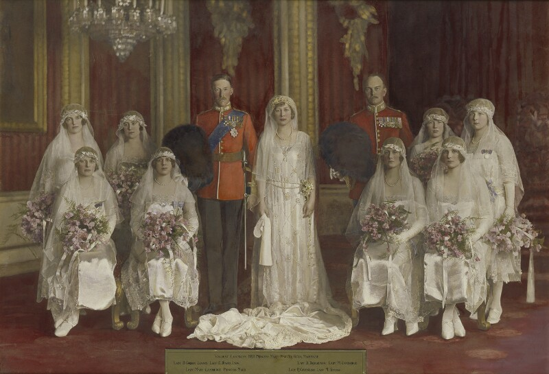 'The Wedding of 6th Earl of Harewood and Princess Mary', by Vandyk, 28 February 1922 - NPG x74770 - © National Portrait Gallery, London