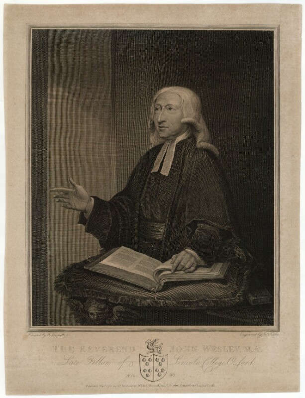 John Wesley, by James Fittler, published by  James Milbourne, published by  John Brydon, after  William Hamilton, published November 1788 (1788) - NPG D37684 - © National Portrait Gallery, London